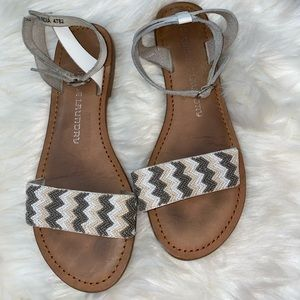CHINESE LAUNDRY    beaded buckle sandals size 7